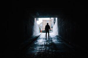 Dark tunnel picture representing fear photo by David EastonUnsplash