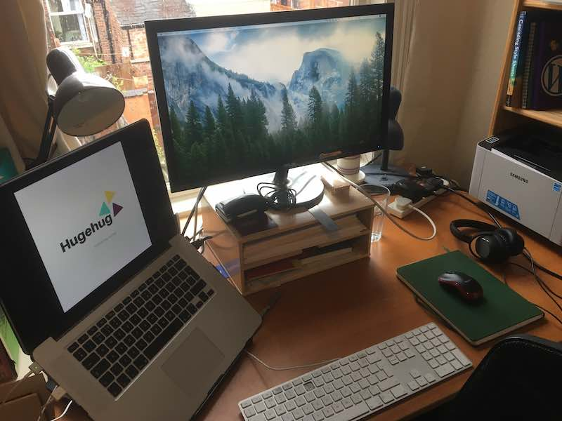 My Desk in my spare room