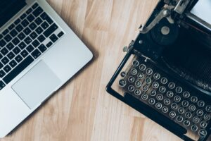 computer and typewriter
